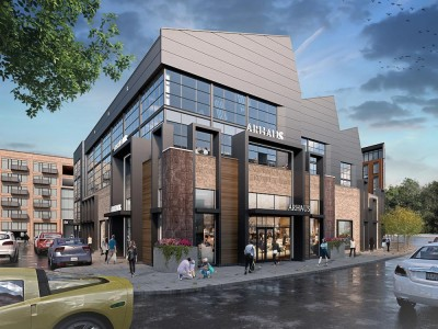 Rendering of Arhaus furniture store at Easton Town Center.