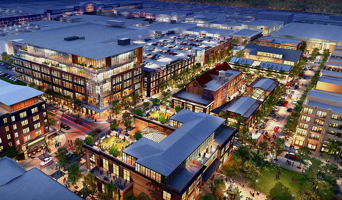 Rendering of the 2019-2020 expansion of Easton Town Center in Columbus, Ohio.