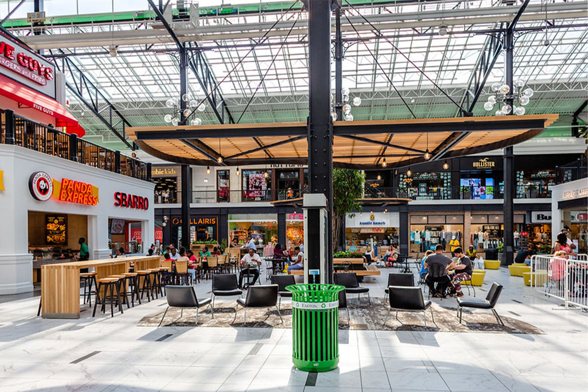 Interior of the food court at Easton Town Center